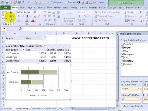 Change excel pivot chart data source also youtube rh