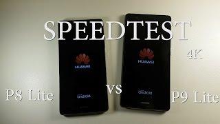 Huawei P9 Lite vs Huawei P8 Lite Speedtest 4K