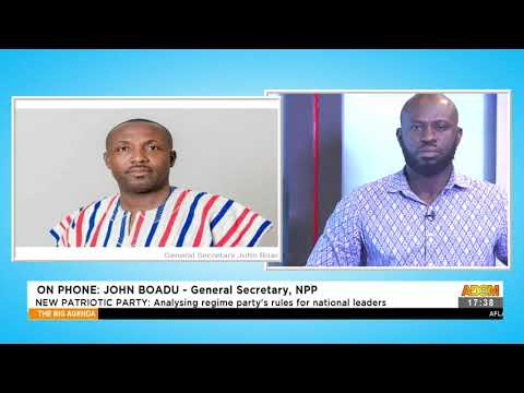 New Patriotic Party: Analyzing regime party's rules for national leaders (11-5-21)