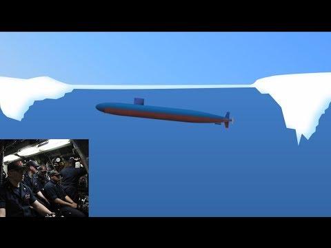 How a Submarine Crashes Through Arctic Circle Ice