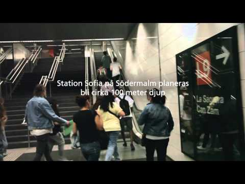 Nya tunnelbanan - djup station med hiss i Barcelona