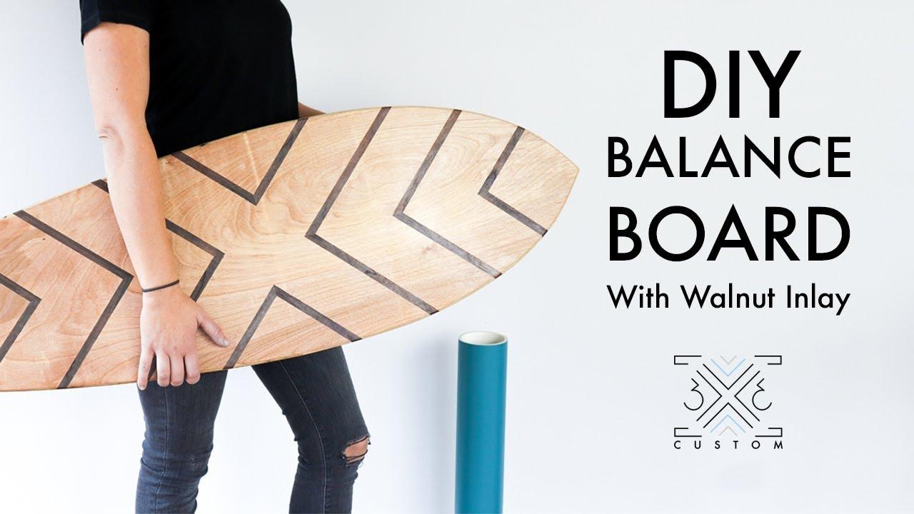 Diy Balance Board With Walnut Inlay Rail To Rail Easy Diy Project Quick Diy Holiday Gift