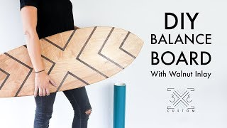 DIY Balance Board with Walnut Inlay // Rail to Rail // Easy DIY Project // Quick DIY Holiday Gift