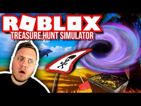 SORT HUL OPDATERINGEN 🤔🤑 :: Treasure Hunt Simulator Ep. 11  - Dansk Roblox