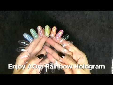 Aora Rainbow Hologram Original Video 1 Nails