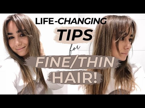 LIFE CHANGING TIPS FOR FINE/THIN HAIR! Julia Havens