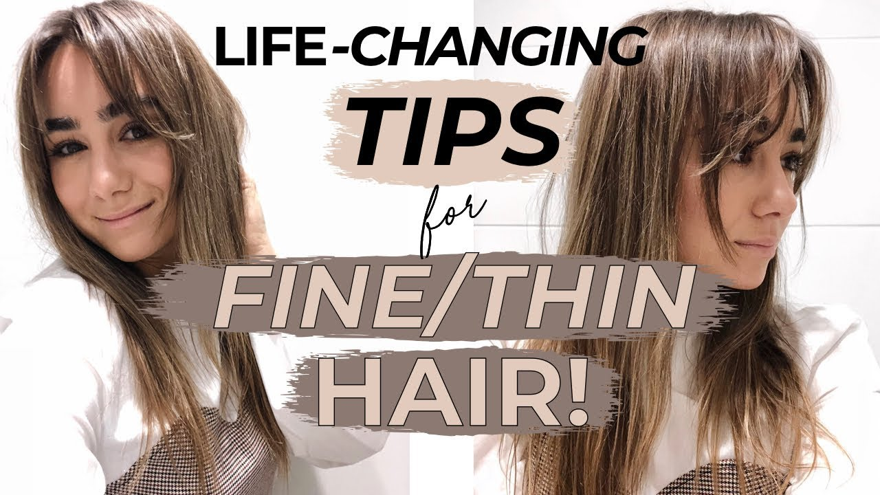 LIFE CHANGING HACKS & TIPS FOR FINE THIN HAIR! Julia Havens - YouTube