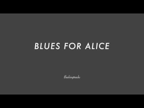 BLUES FOR ALICE chord progression - Backing Track (no piano)