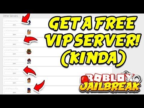 Roblox Jailbreak HOW TO GET A FREE VIP SERVER!! (Kinda