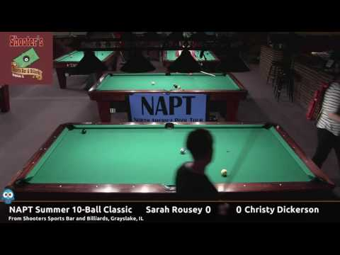 Sarah Rousey vs Christy Dickerson - NAPT 2016 Summer 10-Ball Classic