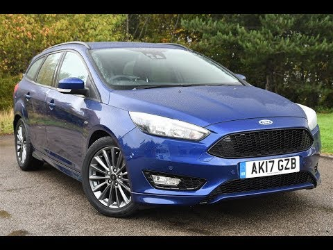used ford focus 1 5 tdci 120 st line 5dr blue 2017 estate youtube. Black Bedroom Furniture Sets. Home Design Ideas