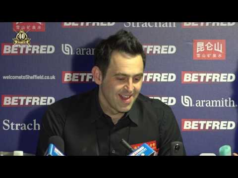 Ronnie O'Sullivan out of the Betfred World Snooker Championships