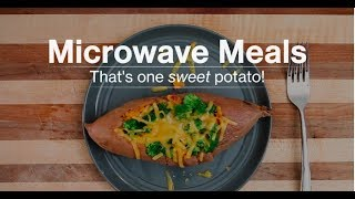 Microwave Meals: Make a Loaded Sweet Potato in 10 Minutes!