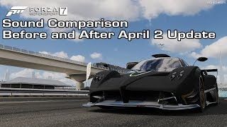 Forza Motorsport 7 - Pagani Zonda R Sound Comparison - Before and After April 2 Update
