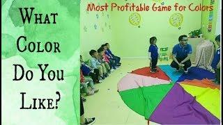 192 - ESL color game| Parachute umbrella ESL game | English teaching games by Muxi |