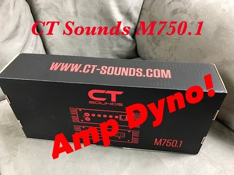 CT Sounds M-750.1 Amp Dyno