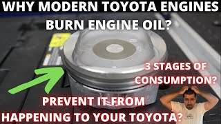 Why do Toyota engines consume oil ? And how to prevent it?