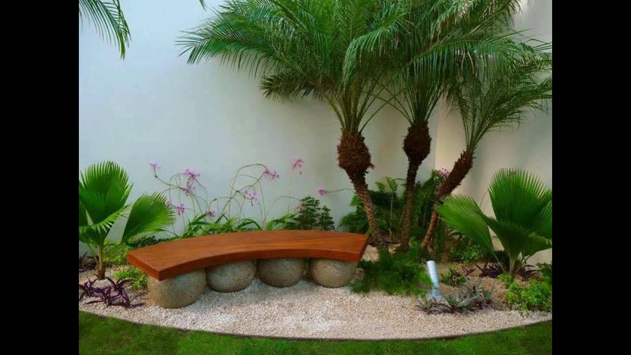 Jardines 2 para patios peque os youtube for Jardin interior decoracion