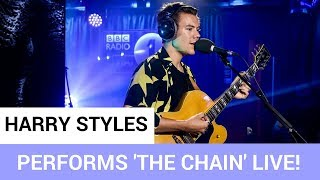 Harry Styles Performs 'The Chain' LIVE on BBC Radio One's Live Lounge!