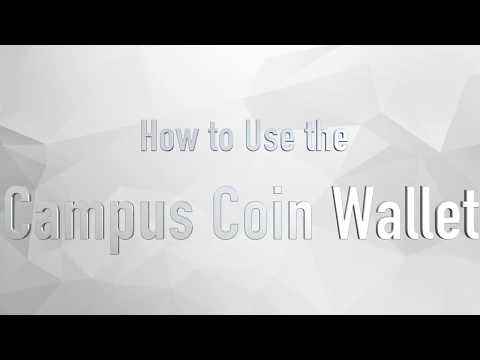 How To Use The CampusCoin Wallet