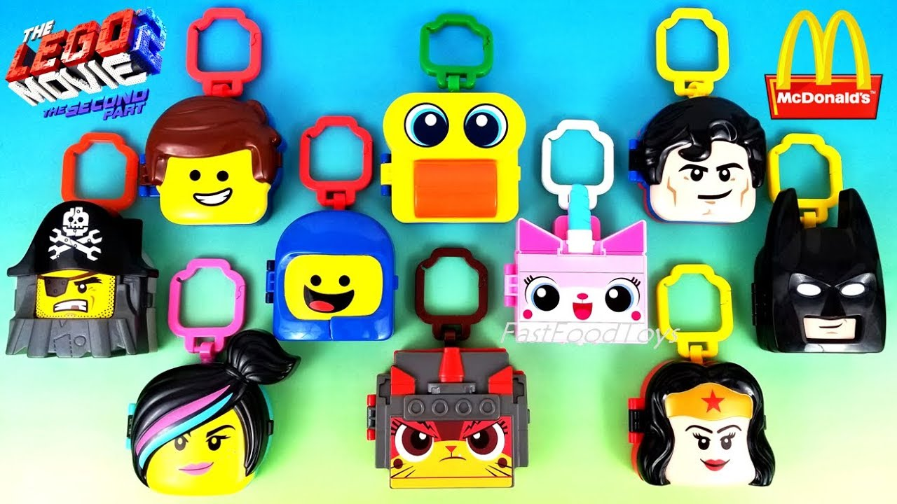2019 McDONALD'S LEGO MOVIE 2 THE SECOND PART HAPPY MEAL TOYS FULL SET 10 KID ASIA EUROPE US UNB