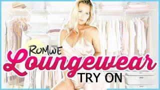 LOUNGEWEAR TRY ON HAUL   Sexy Sleepwear! Romwe.com