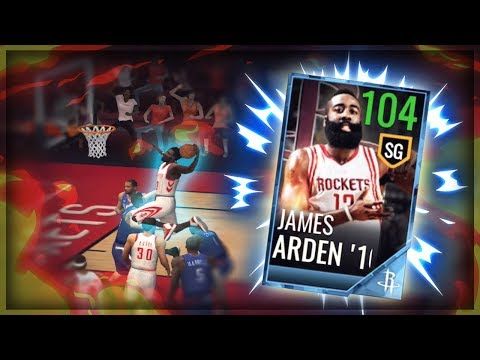 104 OVR CRUNCH TIME JAMES HARDEN BALLING!! NBA LIVE MOBILE 18 GAMEPLAY!!
