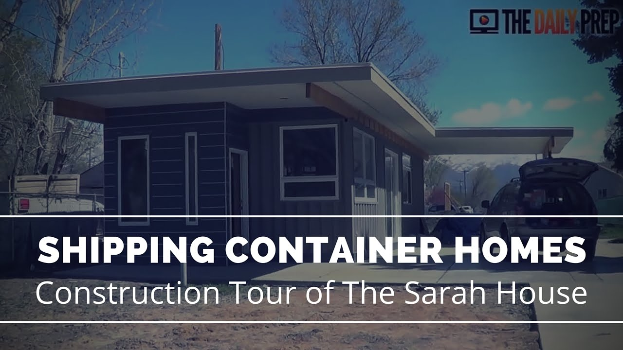 shipping container homes tour - sarah house utah - youtube