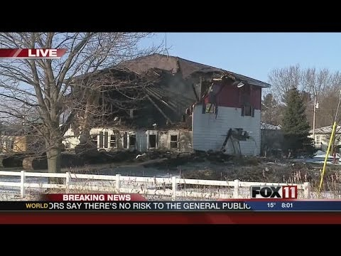 Waupaca County house fire