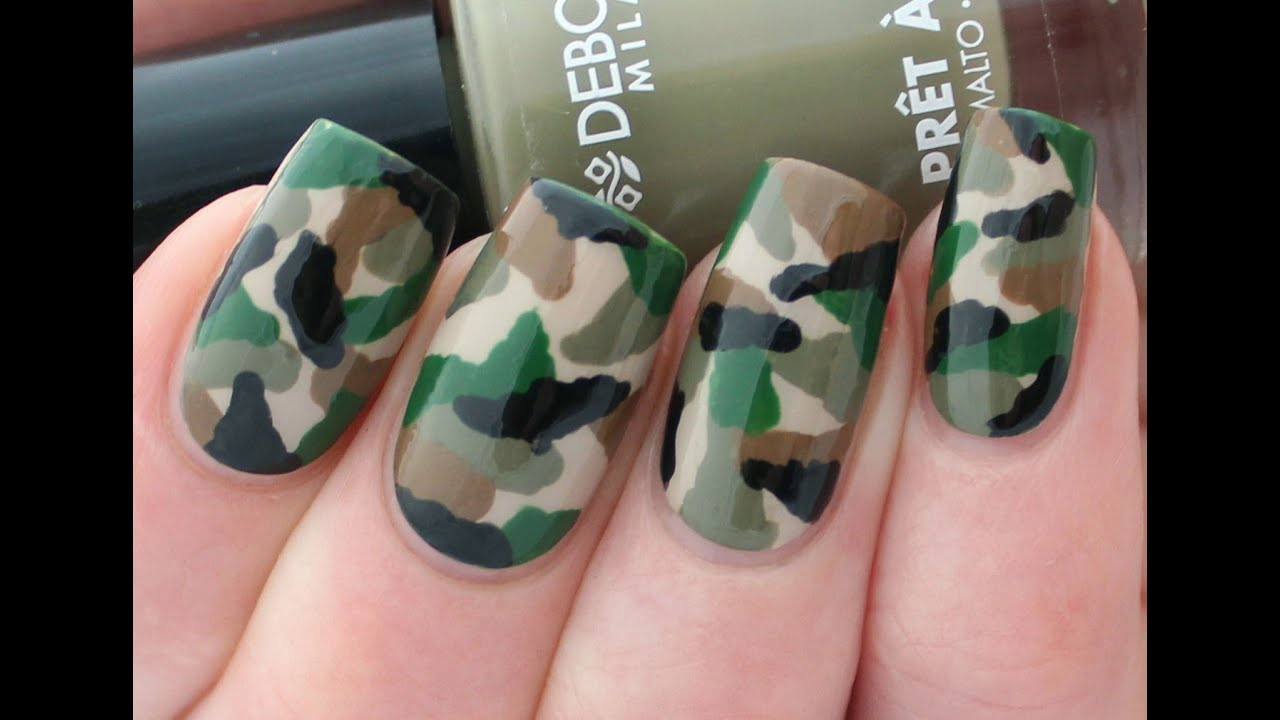 Camouflage nail art tutorial youtube prinsesfo Choice Image