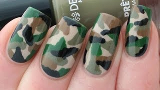 Camouflage Nail Art Tutorial