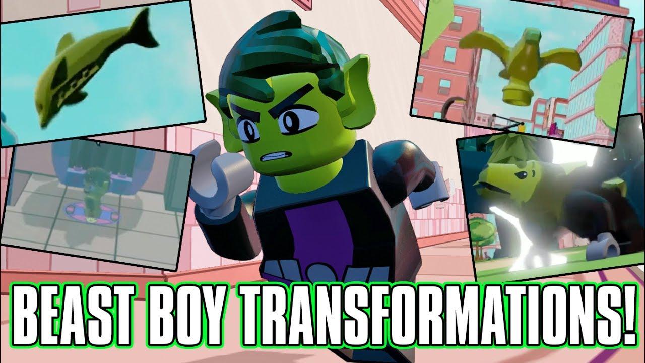 LEGO Dimensions Beast Boy Transformations! Teen Titans Go ...