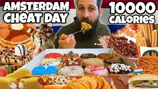 AMSTERDAM CHEAT DAY - 10000 Calorie Challenge - MAN VS FOOD
