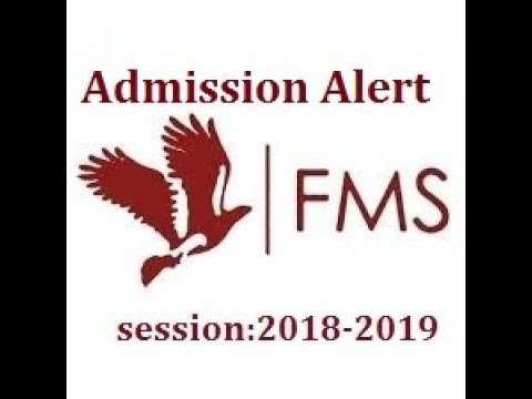 How to get admission in Fms of delhi university?