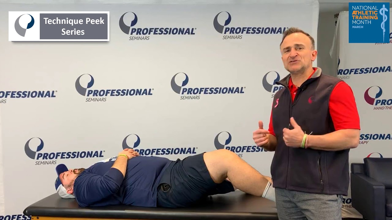 Technique Peek Series - How to Manage An On-field Patella Dislocation