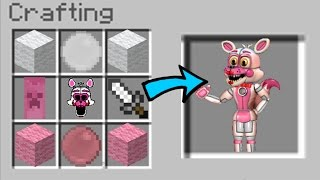 Minecraft Fnaf: How to Craft Funtime Foxy GONE WRONG!