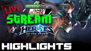 Heroes of the Storm Live Stream Highlights - Playing with friends... in the storm!