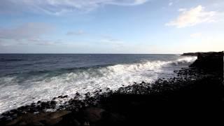 Oahu Hawaiian Active Volcano Flow into Ocean Landscape View.MOV