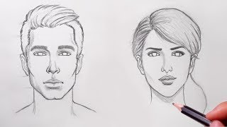 How To Draw Realistic FACE | Easy Drawing Lesson | Pencil Sketch