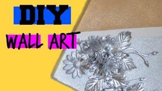 DIY Wall Art | Gold & Silver Room Decor