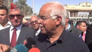 """محافظ القاهرة: """"متابعين محطة حلوان.. ولسه شايف البائعين في مكانهم الجديد"""""""