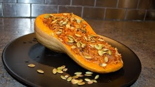 Butternut Squash Stuffed With Rice And Mushrooms