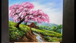 Video How to paint landscapes with acrylics for beginners download MP3, 3GP, MP4, WEBM, AVI, FLV Maret 2018