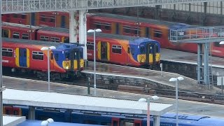 TIME LAPSE Waterloo Train Station, the Shard from Park Plaza Westminster Bridge Hotel London UK