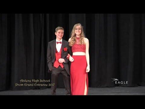 Abilene High School Prom Grand Entrance 2017