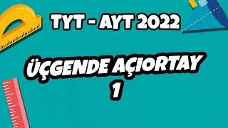 Üçgende Açıortay -1  TYT - AYT Geometri 2021 hedefekoş