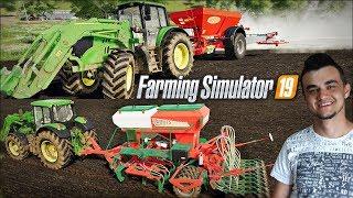 """Farming Simulator 19 """"Moja Amerykańska Gospodarka""""#3 ㋡ Wapnowanie i Siew Owsa ✔ MafiaSolecTeam"""