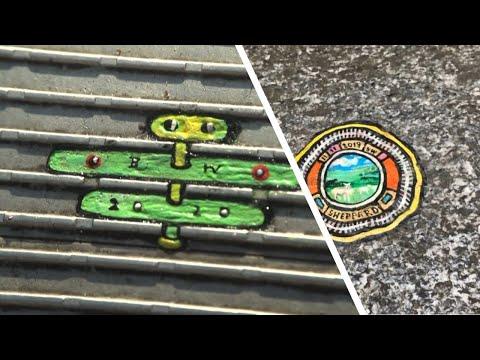 قطع العلكة الممضوغة المرمية في شوارع لندن تتحول إلى لوحات فنية  - 19:00-2020 / 2 / 13