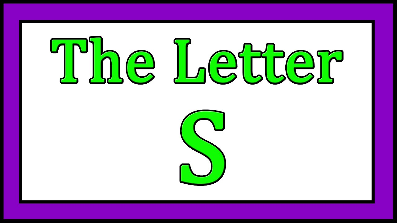 The Letter S Songs - ABC Songs - Toddler Baby Preschool - Learn the ...