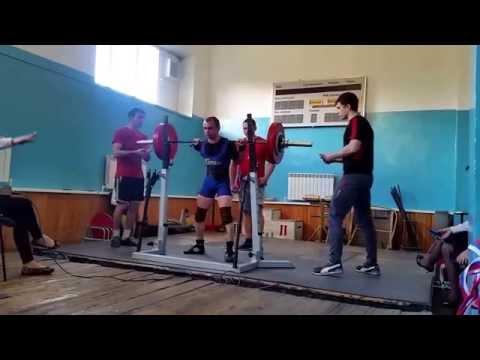 Valery Polyakov,squat 190 kg.